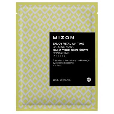 MIZON Enjoy Vital-Up Time [Calming Mask] - rahustav näomask taruvaiguga