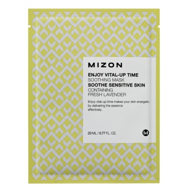 MIZON Enjoy Vital-Up Time [Soothing Mask] - rahustav kangast näomask lavendliga