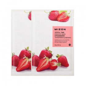 MIZON Joyful Time Essence Mask [Strawberry] - värskendav vitamiinirikas kangasmask maasikaga
