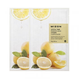 MIZON Joyful Time Essence Mask [Vitamin] - kangasmask C-vitamiiniga