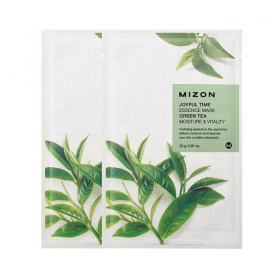 MIZON Joyful Time Essence Mask [Green Tea] - kangasmask rohelise teega