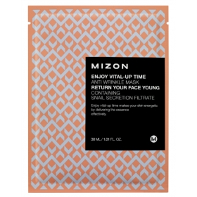 MIZON Enjoy Vital-Up Time [Anti-wrinkle] - kortsuvastane kangasmask teolimaga
