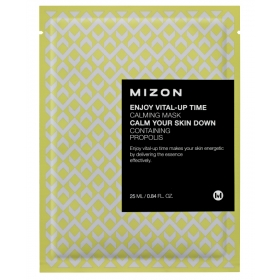 MIZON Enjoy Vital-Up Time [Calming Mask] - rahustav kangasmask taruvaiguga