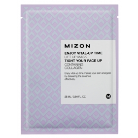 MIZON Enjoy Vital-Up Time [Lift Up Mask] - pinguldav kangasmask kollageeniga