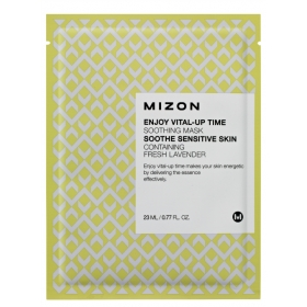 MIZON Enjoy Vital-Up Time [Soothing Mask] - rahustav kangasmask lavendliga