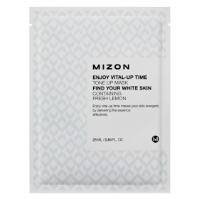 MIZON Enjoy Vital-Up Time [Tone Up Mask] - kangast näomask tuhmunud nahale