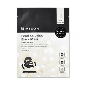 Mizon Pearl Solution Black Mask - kangasmask pärli ekstrakti ja vulkaanilise tuhaga
