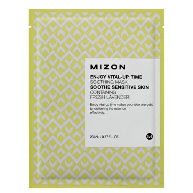 MIZON Enjoy Vital-Up Time [Soothing Mask] - rahustav kangast näomask lavendliga