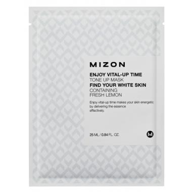 MIZON Enjoy Vital-Up Time [Tone Up Mask] - kangast näomask tuhmunud nahale