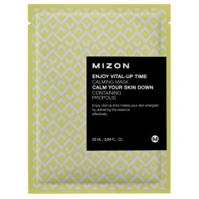 MIZON Enjoy Vital-Up Time [Calming Mask] - rahustav kangasmask taruvaiguga