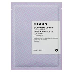MIZON Enjoy Vital-Up Time [Lift Up Mask] - pinguldav kangasmask kollageeniga