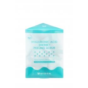 Mizon Hyaluronic Acid Sherbet Peeling Scrub - näokoorija sooda ja hüaluroonhappega